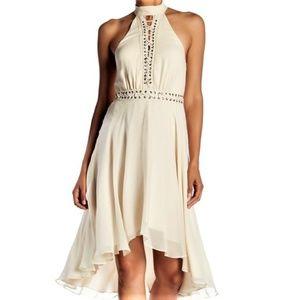 "Haute Hippie ""Free Spirit"" Lace Up 100% Silk Dress"